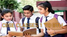 CBSE CLASSES COACHING 1 TO 8 TH.