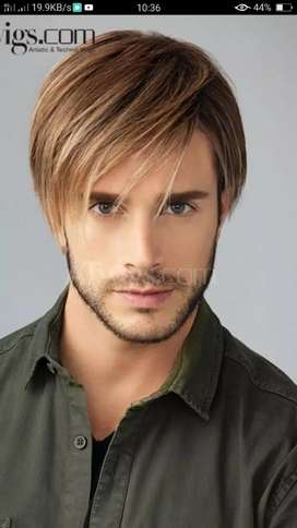 Hair wigs for boys and girl imported fiber,