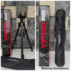 Tripod Excell Vipod 300 Fluidhead Untuk Kamera DSLR Handycam Premium