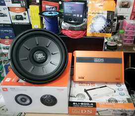 Plus Pasang,Bass Muantap,Sub JBL Stage+Power ADS BLI 4ch+Tweeter+Box