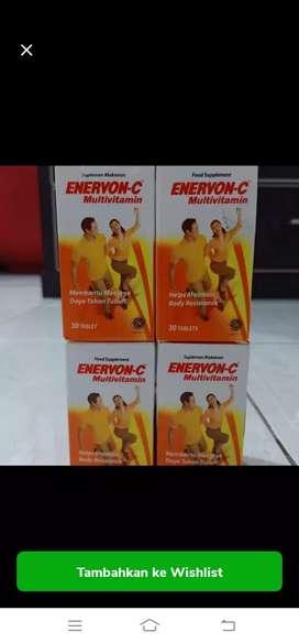 Dijual murah enervon c botol isi 30 kablet