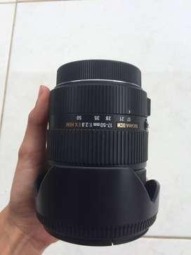Lensa Sigma 17-50mm for canon