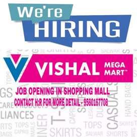 URGENT VACANCY OPENING iN ViSHAL MEGA MART MALL