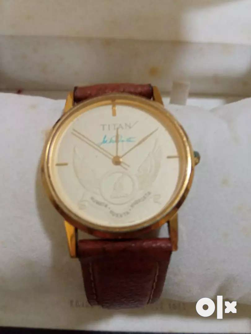20 ct gold plated extremely limited edition Titan with JRD signature