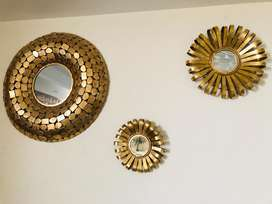 Big set of wall decor mirrors