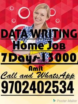 Hand Writing Paper Work Home Job