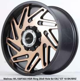 all new MALINAU WL150FX03 HSR R20X9 H6X139,7 ET18 BK/BRONZE