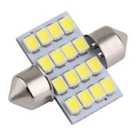 Lukstar Lampu Interior Mobil LED Super White 31mm Festoon 16 SMD 1210
