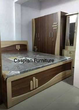 S.Brand new bed room set with storage bed and 4 door wardrobe