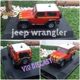 Diecast Miniatur Jeep Wrangler orange