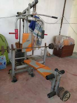 Gym Machine Combo with Weight & Rods