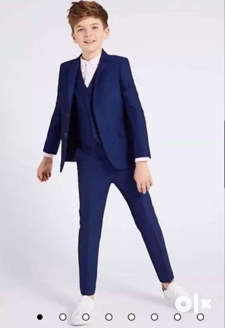 2 Button Notch Lapel blue coat pant (10-16 Yrs) (5 piece) 0
