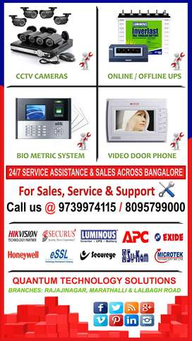 CCTV Dealers & Service with Component level expertise in Bangalore