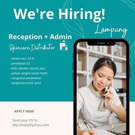 Reception + Admin Skincare Distributor