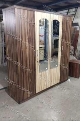 New 4 Door Wardrobe in  Lighg & Dark Brown Colour