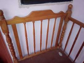 Baby wooden cot 10/10 condition