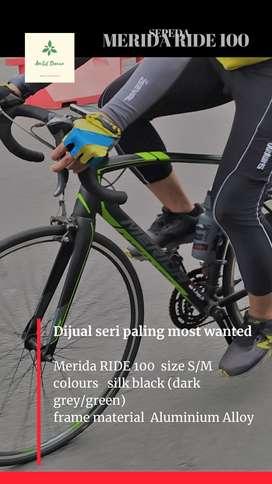 Sepeda Road Bike Merida RIDE 100 (upgrade ++)