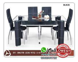 Facny Wooden / Glass Dining Table and Dining set 4 / 6 Chairs Seater