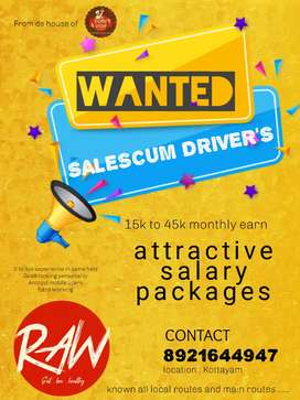Looking for salescum drivers in FMCG product Manufacturing  company