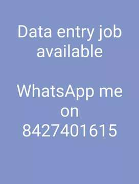 I m offering a job data typing at home