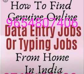 We are wanted data entry 20 operators; this is a part time job