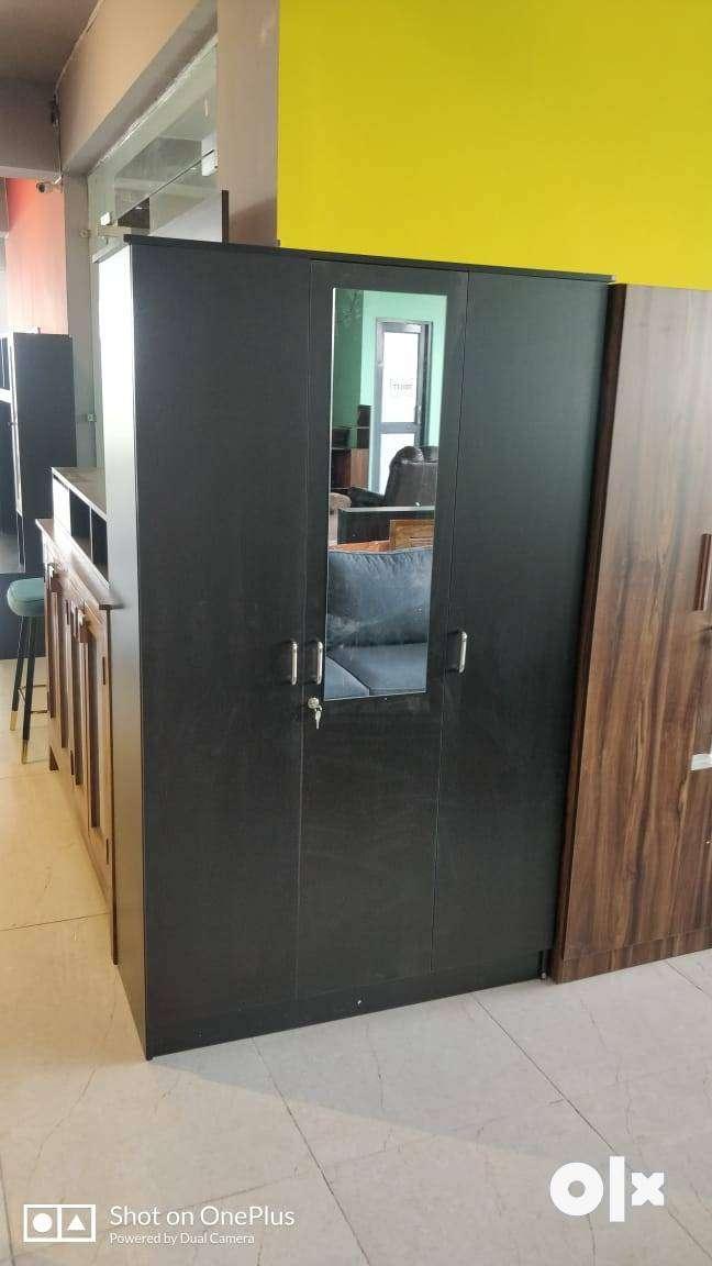3 Door Wardrobe Without mirror Engineered Wood