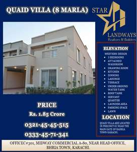 8 MARLA MODERN AND WELL VENTILATED BEAUTIFUL HOUSE IN BAHRIA TOWN KHI.