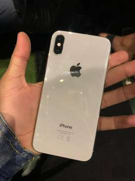 Iphone x 256 gb white only kit