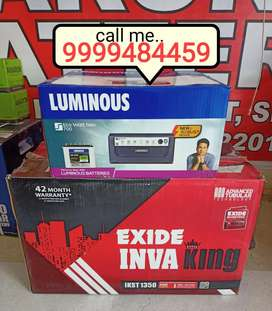 Buy Brand New Luminous Inverter + Exide Tubular Battery