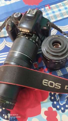 Canon 1100D with 18-55 and 55-250 lens
