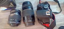 Cannon D3000 Dual Lens 18-55and 75-300 16GB no problem 4month old argt