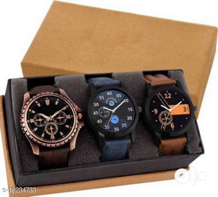 Pack of 3 Watches (Cash on delivery)