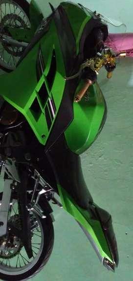 Ninja toe EX250l warna hijau full modifikasi