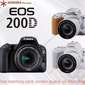Canon EOS 200d kit 18-55mm STM full set bonus