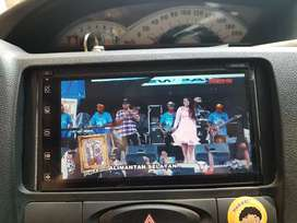 double din DVD TV USB full glass di mobil