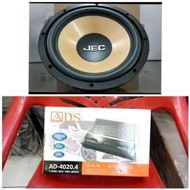 Subwoofer JEC 12 inch & Power 4 channel ADS 25.000W + PASANG