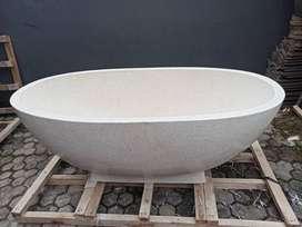 Bathtub Elegan Bali Terrazzo Tipe Oval P130cm