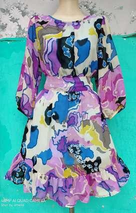 Dress shifon corak Preloved second import China