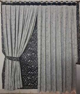 Curtains for room or living area with blinds