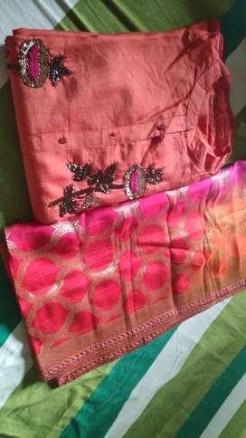 Semi stitch Kurtis material