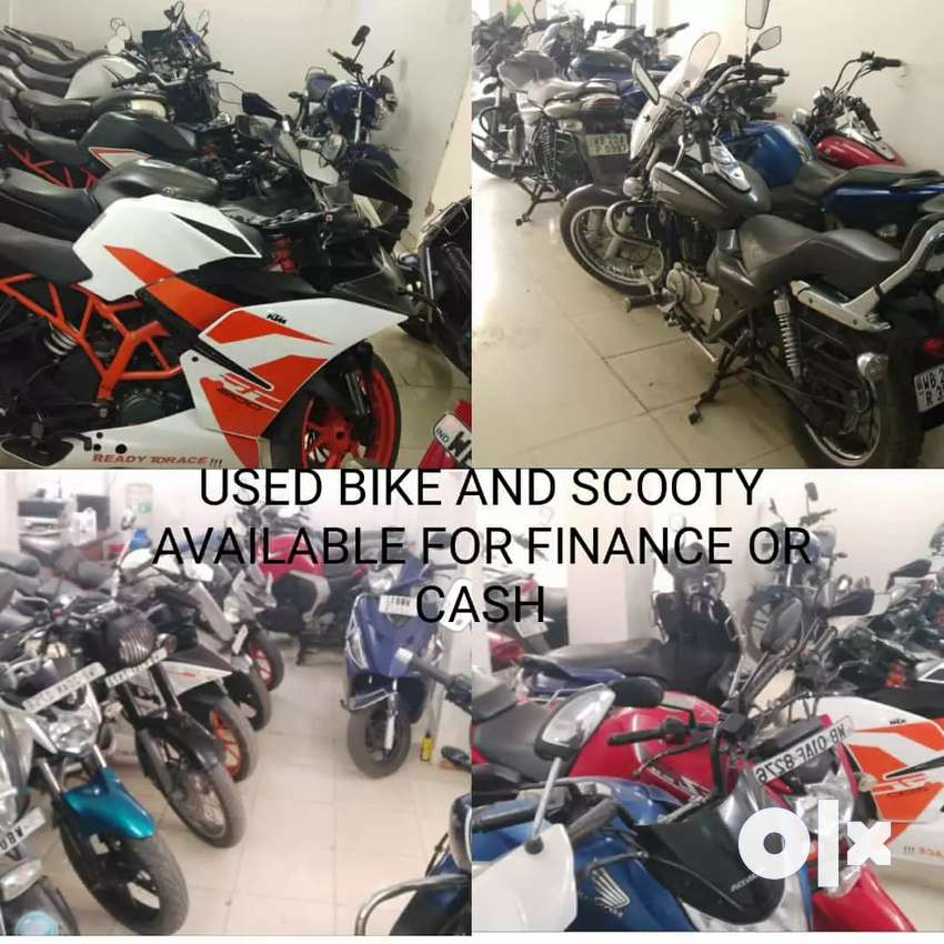 Used bike and Scooty available for finance or cash 0