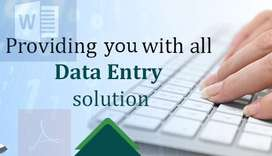 simple typing (data entry) work at home