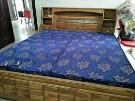 2 year old diwan double bed With mattress in a good condition