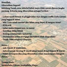Dicari lahan untuk disewa area Jabodetabek
