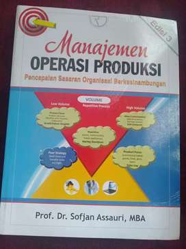Buku Manajemen operasi produksi