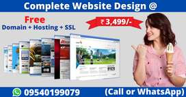 Don't miss, Get a brand new website of your business