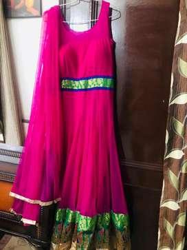 Anarkali net suit with dupatta