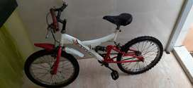 Kids cycle white and red color
