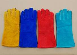 Welding leather labour gloves safe hand fo safety cable construction b