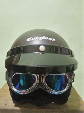 Helm cargloss + kacamata